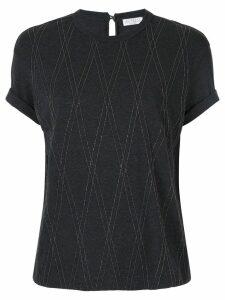 Brunello Cucinelli beaded cotton T-shirt - Grey