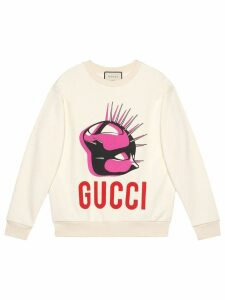 Gucci Manifesto oversized sweatshirt - White