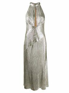 Galvan Peek-a-Boo dress - SILVER