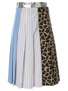 MSGM paneled pleated skirt - Multicolour