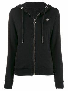 Philipp Plein logo zip-up hoodie - Black