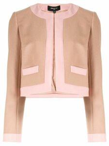 Paule Ka two tone cropped blazer - Pink