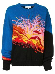 MSGM intarsia-knit jumper - Multicolour
