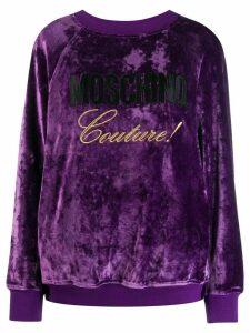 Moschino Couture! logo sweatshirt - Purple