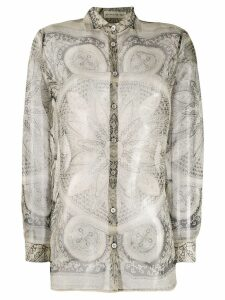 Etro sheer silk blouse - Grey