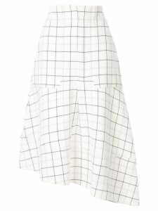 Tibi midi check skirt - White