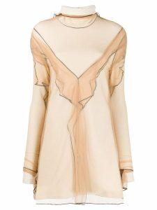 Y/Project organza mini dress - White