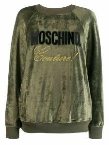 Moschino Couture! logo sweatshirt - Green