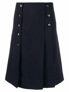 Chloé buttoned kilt skirt - Blue
