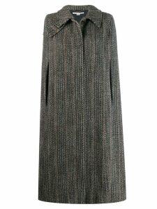 Stella McCartney Chevron knitted cape - Black