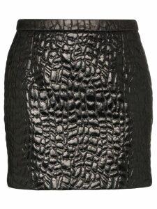 Saint Laurent embossed mini skirt - Black