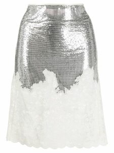 Paco Rabanne sequin fitted skirt - Silver