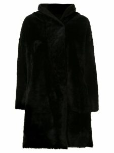 Sylvie Schimmel hooded oversized coat - Black