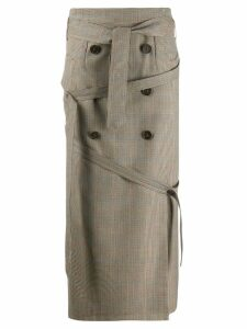 Rokh wrap wool skirt - Brown