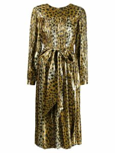Marc Jacobs belted leopard print dress - Gold