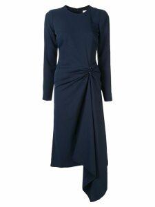 Dion Lee pierced midi dress - Blue