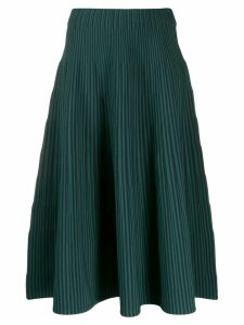 Cédric Charlier pleated knitted skirt - Green