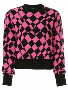 MSGM geometric print jumper - Pink