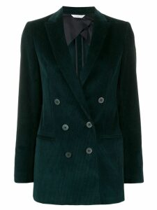 Tonello double-breasted velvet blazer - Green