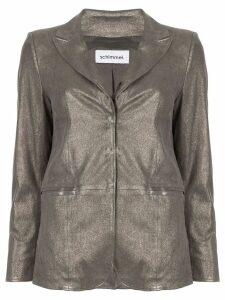 Sylvie Schimmel slim-fit blazer - Silver