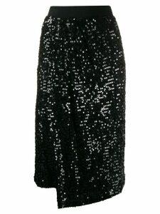 P.A.R.O.S.H. high waisted embellished skirt - Black