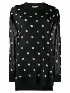 Fendi karligraphy oversized jumper - Black