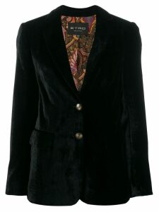 Etro tailored velvet blazer - Black