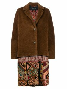 Etro geometric hem coat - Brown