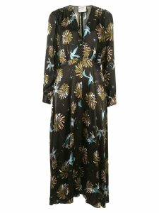 Forte Forte abstract-print flared dress - Black