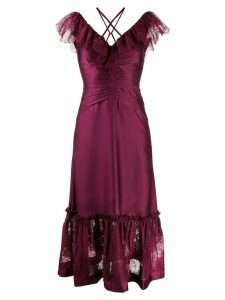 Three Floor Lace In Vision dress - Purple