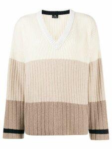 PS Paul Smith striped knit jumper - Neutrals
