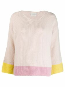 Fine Edge colour block sweater - Pink
