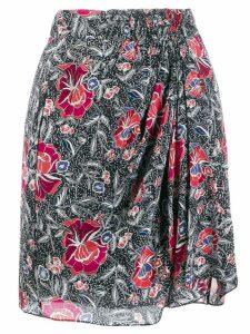 Isabel Marant Étoile floral mini skirt - Black