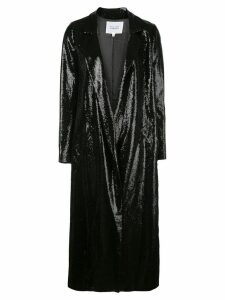 Galvan sequined midi coat - Black