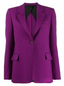 Golden Goose raw cut blazer - Purple