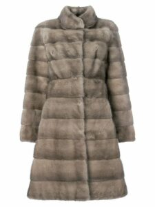 Liska fur mid-length coat - Neutrals