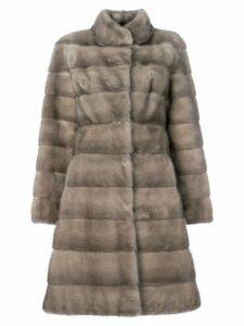 Liska fur mid-length coat - Neutrals