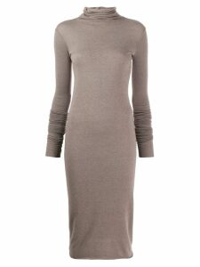 Rick Owens Lilies knitted roll neck dress - Grey