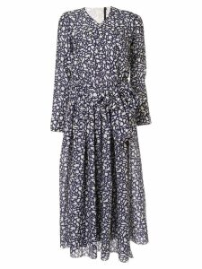 Sara Lanzi patterned dress - Blue