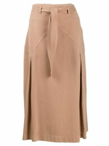 Peserico mid-length A-line skirt - Neutrals