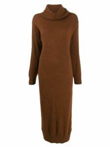 Mes Demoiselles roll-neck jumper dress - Brown