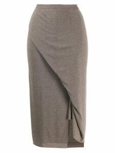 Rick Owens Lilies knitted midi skirt - Grey