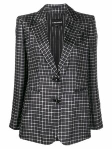 Giorgio Armani checked blazer - Black