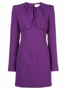 Sara Battaglia fitted mini dress - Purple