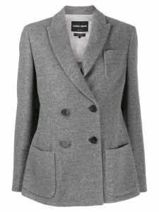 Giorgio Armani double breasted blazer - Grey