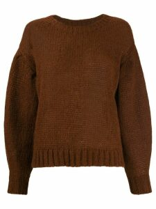 Closed Dropped shoulder sweater - Brown