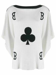 Boutique Moschino club graphic top - White