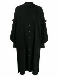 Yohji Yamamoto oversized shirt dress - Black