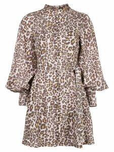 Zimmermann Sabotage leopard dress - PINK
