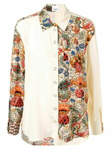 Burberry floral-print colour-block shirt - Yellow